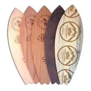 "3"" x 12"" - Promotional Hardwood Surfboards - Engraved - USA-Made"